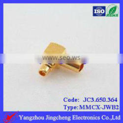 MMCX female/jack solder and 90 right angle for semi-rigid RG405 086 cable