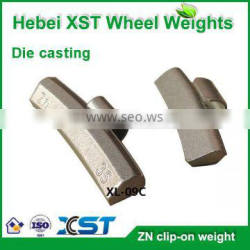 Non-lead alloy wheel clip on weights
