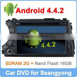 Ownice New Quad Core Android 4.4.2 for Kyron Actyon 2006-2012 car radio Cortex A9 1.6GHz CPU Support TPMS OBD