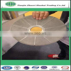 Leaf disc filter of 5-30 micron rating and 8 mm thinckness