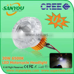 Newest High Power 30W Cree H7 H4 9005 H11 led motorcycle headlight bulbs