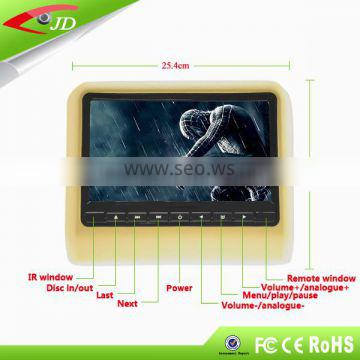 Paypal Acceptable 10.1'' car headrest dvd player monitor with HDMI Input