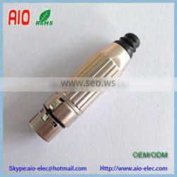 Switchcraft 2 piece Design Easy-Assembly twist Metal 3 Pin 3 Pole Female XLR Connector Quality Choice