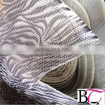 zebra printed 3D air spacer sandwich mesh fabric for motorcycle seat cover,car seat cover,mattress and chair spacer