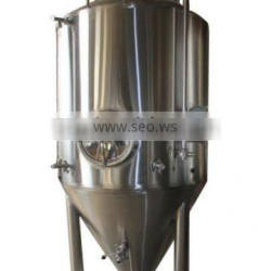 red copper beer brewing pot and 1000L SUS 304 fermentation tank