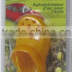 newest ideal 2015 plastic yellow shoe air freshener with lemon scent