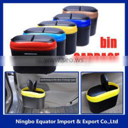 hot selling vehicle garbage bin/ car trash can With Holder Hook