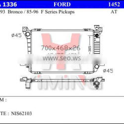 radiator for Fordd 85-93 bronco, 85-96 f series pickup, AT ,26mm