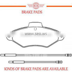 front axle brake pad with different raw materials for CITROEN XANTIA saloon car