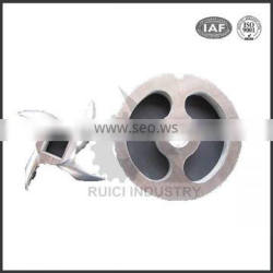 Stainless steel precision meat grinder part