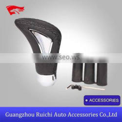 Fashionable hot China factory car black leather gear shift knob covers