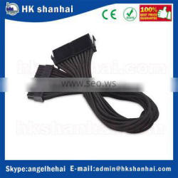 2017 trending products low price 24 pin ATX PSU extension cable motherboard power supply male to female extension cable 30cm bla