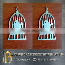 China factory custom stainless steel laser cut metal decorations