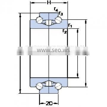 Pressed Steel Cages Single-Row Angular Contact Ball Bearings