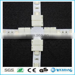 RGBW 12 mm 5 Pin + X Sharp PCB Solderless LED strip connector for SMD 5050 RGBW LED strip light
