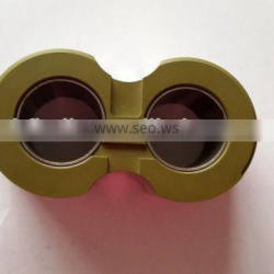 Aluminum bushing block with coating for gear pump