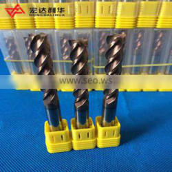 Coated Carbide End Mills with Four Flutes for CNC Milling Machine