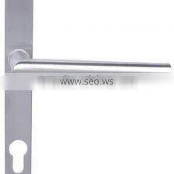 P01TH03-EU:Tube Stianless Steel Lever Handle with Plate