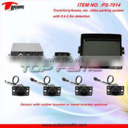 TOPFAME PS-7014 7inch TFT LCD monitor display Truck/bus parking sensor system with 0.4-5m detection