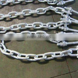 draging chain with adjustable shackle
