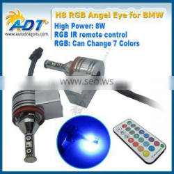2016 Hot sale 80MM Angel Eyes RGB LED Halo Rings Light With Remote Control