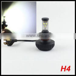motorcycle headlight H4 30W 3000lm Conversion Kit For Harley Street Glide Motorbike 9003 H4 H/L beam head lamp