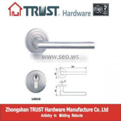LH010:Trust Stainless Steel Solid Lever Handle with Escutcheon