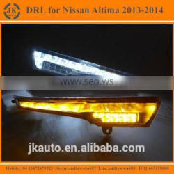 High Power With Yellow Turn Signal LED DRL Light for Nissan Altima Super Quality Daytime Running Light for Altima 2013-2014