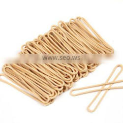 Flat Beige Color Latex Rubber Band For Wholesale , Rubber Band Made in China