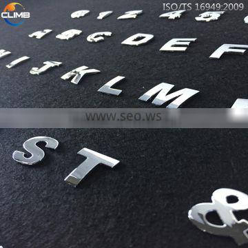 China supplier Custom metal letters for car emblem small metal letters car numember sticker