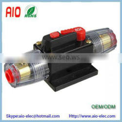 Car Auto Audio 80A On off Switch automatic recover 1 in 1 Out Fuse Holder