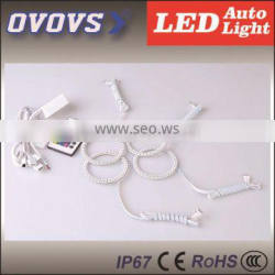OVOVS LED Multi color changing angel eyes RGB led angel eyes with remote for 80mm