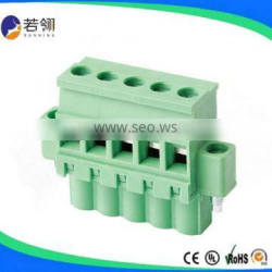 Electrical Pluggable Terminal Block Pitch 7.50mm 7.62mm Connector