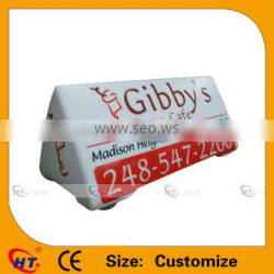 Customize pizza style taxi advertising signs