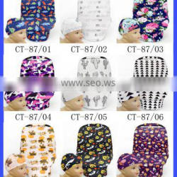 Multi Use Baby Trend Car Seat Cover Nursing Replacement Custom Print Infant Car Seat And Nursing Cover With Match Hat