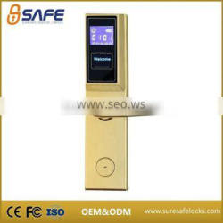 Newest quality-assured visible LCD screen smart card hotel lock