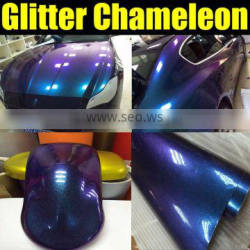 Metallic Pearl Vinyl Wrap for Car Color Changing Purple to Blue Chameleon