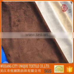 120GSM Weft Knitting One way Suede Fabric