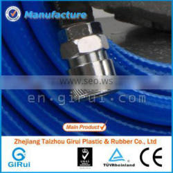 blue pvc braided air hose with fittings