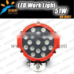 Super Bright 12V 51W Led Work Light in Auto Lighting System for ATV SUV Truck For Jeep Offroad Vehicles