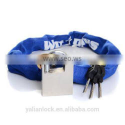 China Cheap High Quality Chain Padlock Cloth Cover Blue Color