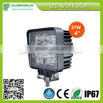 Factory directly offer 27W led working light with 2 years warranty Supplier's Choice