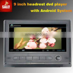 Digital Touch Screen Headrest Android with 3g wifi