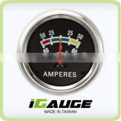 Reliable Auto Meter 52mm 90 degree scale Mechanical Ammeter Gauge