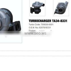 TA34-8331 Turbo charger /Turbocharger