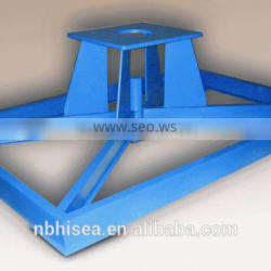 Machine frame precision weldment contructed with I beam