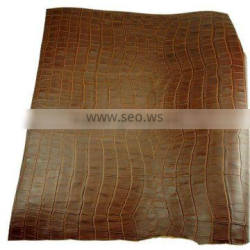 High Quality 1.4 1.6mm Brown Crocodile Embossed Leather