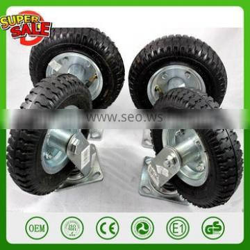 """8"""" KNOBBY SWIVEL & FIXED WHEEL TERRAIN ROUGH SURFACE RUBBER TIRE CASTER truckle mecanum wheel swivel caster Directional casters"""