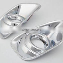 ABS Chrome 2 Pcs Front Fog Light Lamp Cover For Compass 2011 Accessories