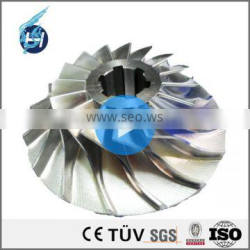 customized stainless steel 304/3016/303 submersible double drawing 85 mm aluminium centrifugal fan impeller with welding grindin